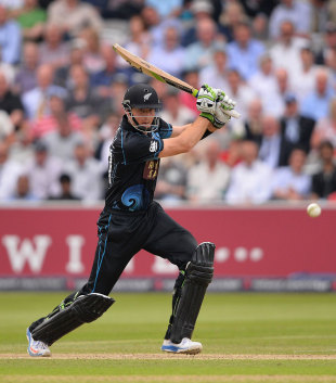 Martin Guptill picks a gap on the offside, England v New Zealand, 1st ODI, Lord's, May 31, 2013