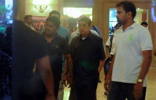 N Srinivasan exits after the BCCI meeting in Chennai, June 2, 2013