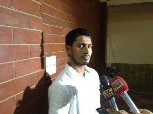 Mohammad Ashraful at a media interaction in Dhaka, June 4, 2013