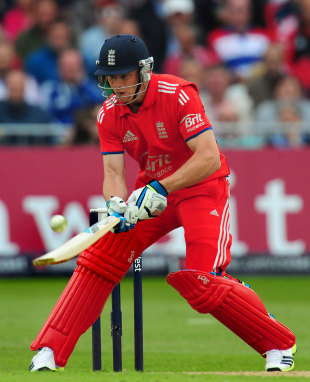 Jos Buttler played an audacious reverse-ramp, England v New Zealand, 2nd ODI, Trent Bridge, June 5, 2013