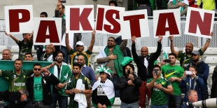 Pakistani fans show their support, Pakistan v South Africa, Champions Trophy, Group B, Edgbaston, June 10, 2013
