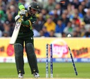 Imran Farhat is bowled by Chris Morris, Pakistan v South Africa, Champions Trophy, Group B, Edgbaston, June 10, 2013