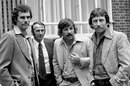 Australia's Greg Chappell, Doug Walters, Rod Marsh and Ian Chappell outside their Kensington hotel, May 29, 1975
