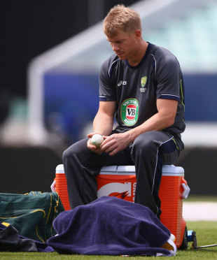 David Warner ponders over the events of the past week, London, June 16, 2013