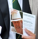 An invite for Tony Greig's memorial service, Trafalgar Square, London, June 24, 2013
