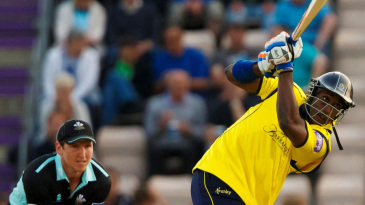 Michael Carberry on his way to 60 off 45 against Surrey