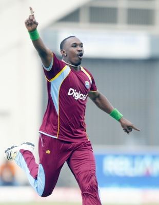 Dwayne Bravo gave his team the first breakthrough, West Indies v Sri Lanka, 1st ODI, Kingston, June 28, 2013