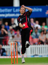 Anthony Ireland bowled a tidy spell of 1 for 24, Leicestershire v Derbyshire, Friends Life t20, North Group, Grace Road, June, 29, 2013