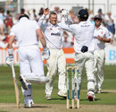 Tom Craddock's three wickets included that of Matt Prior, Essex v England, 1st day, Chelmsford, June 30, 2013