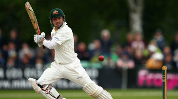 Ed Cowan started slowly before reaching fifty