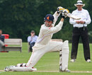 Tim Gruijters hits the ball over point, Netherlands v Ireland, ICC Intercontinental Cup, 2nd day, Deventer, July 2, 2013