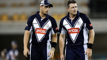 James Pattinson and Darren Pattinson have a chat
