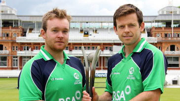 Paul Stirling and Ed Joyce launch the RSA Challenge which will be played against England
