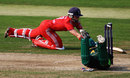 Arran Brindle is stranded a fraction short, England v Pakistan, 2nd women's T20, Loughborough, July 5, 2013
