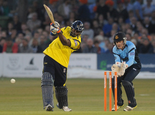 Michael Carberry's 31-ball 50 gave Hampshire's chase early momentum, Sussex v Hampshire, FLt20, South Group, Hove, July 5, 2013