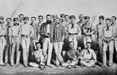 The England cricket team in 1880. Left to right: James Lillywhite, John Selby, Alfred Shaw, George Ulyett, Lord Harris, Walter Gilbert, Harry Jupp, Albert Hornby, W.G Grace, Bunny Lucas, G.F Grace, William Oscroft, Allan Gibson Steel, Ted Pooley, Richard Daft, Alexander Webbe, Tom Emmett, Billy Bates, Ephraim Lockwood, Richard Pilling and Fred Morley.