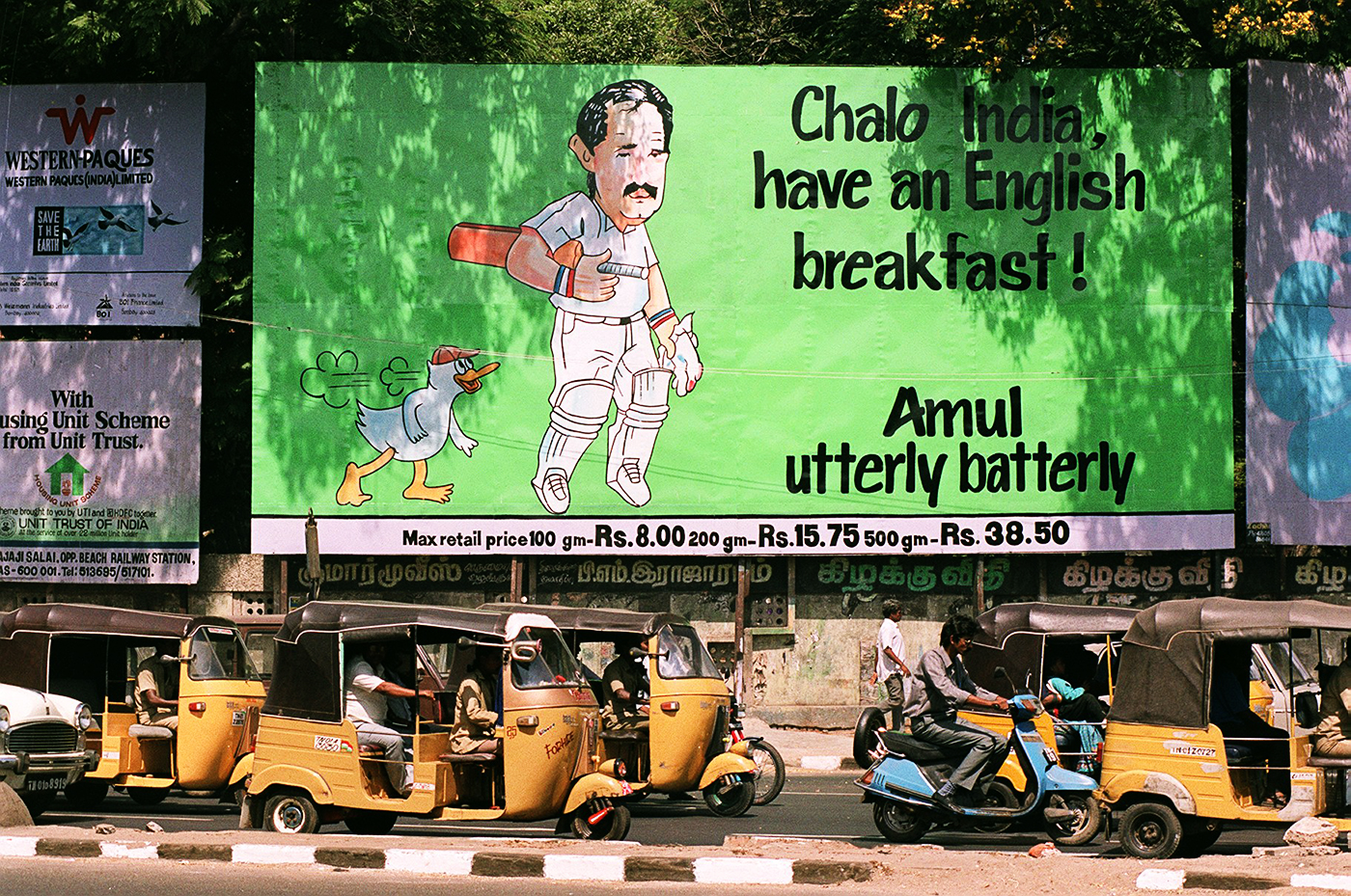 Madras, February 1993: Amul, the dairy giant known for incorporating current affairs into its advertising, with one of the earlier cricket ads in India