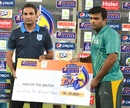 Fahad Masood was named Man of the Match, Habib Bank Limited v Pakistan International Airlines, Group A, Ramadan T20 Cup, Karachi, July 8, 2013