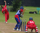 Left-arm spinner Delray Rawlins picked up five wickets, Bermuda v USA, ICC Americas Under-19 Championship, Division 1, King City, July 8, 2013
