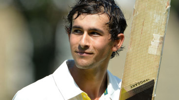 Ashton Agar was caught on the pull for 98