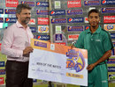 Asad Baig was the Man of the Match in HBL's victory, Habib Bank Limited v State Bank of Pakistan, Advance Telecom Ramadan T20 Cup, Karachi, July 11-12, 2013