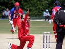Bashir Shah appeals for a wicket, Denmark v Jersey, European Championship Division One, Group B, Fulking, July 11, 2013