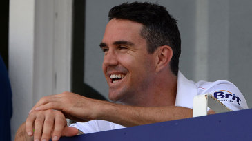 All smiles: Kevin Pietersen relaxes after the tense finish