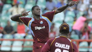 Jason Holder takes off after claiming another wicket