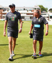 Glenn McGrath and Steve Rixon at Australia's training session, Lord's, July 16, 2013