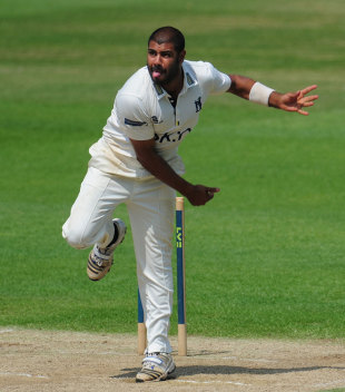 Jeetan Patel finished with 4 for 60 in Notts' first innings, Warwickshire v Nottinghamshire, County Championship, Division One, Edgbaston, July, 17, 2013