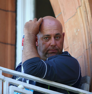 Tough job: Darren Lehmann watches Australia's performance, England v Australia, 2nd Investec Ashes Test, Lord's, 2nd day, July 19, 2013