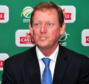 Andrew Hudson, convener of South Africa's selection committee, talks to the media, July 2013
