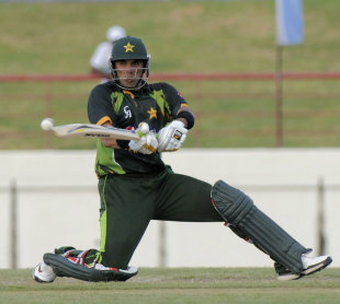 Misbah-ul-Haq reverse sweeps the ball, West Indies v Pakistan, 4th ODI, St Lucia, July 21, 2013