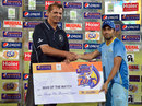 Zain Abbas with his Man-of-the-Match award, Khan Research Labs v Sui Northern Gas Pipelines Limited, Ramadan T20 Cup, Karachi, July 21, 2013