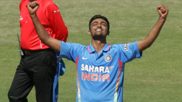 Jaydev Unadkat is elated after picking up his first ODI wicket