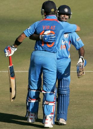 Virat Kohli and Ambati Rayudu added 159 for the third wicket, Zimbabwe v India, 1st ODI, Harare, July 24, 2013