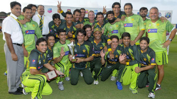 The victorious Pakistan team celebrate their series win