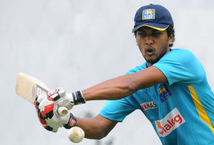 Dinesh Chandimal plays a shot during practice, Pallekele, July 25, 2013