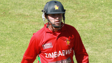 Brendan Taylor was dismissed for 23