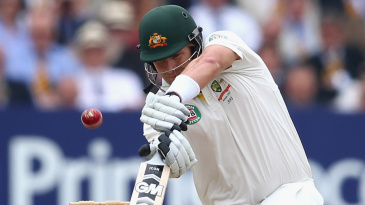 Shane Watson lasted less than seven overs in the second innings
