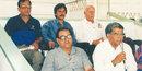Munir Hussain (left on bottom row), a pioneer of Urdu commentary in Pakistan