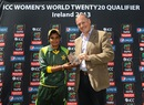 Sadia Yousuf receives her Player-of-the-Match award, Ireland Women v Pakistan Women, ICC Women's World Twenty20 Qualifiers, 1st semi-final, Dublin, July 29, 2013