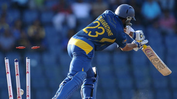 Tillakaratne Dilshan was bowled on 99