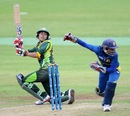 Nain Abidi lofts the ball fine, Pakistan Women v Sri Lanka Women, ICC Women's World Twenty20 Qualifier, final, Dublin, July 31, 2013