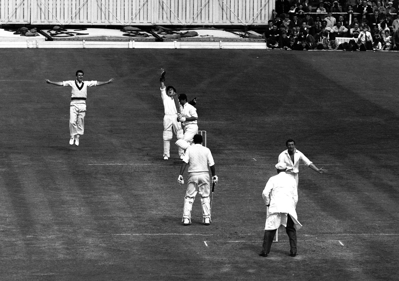 England were well on course at Old Trafford in 1961 before this wicket: Dexter c Grout b Benaud