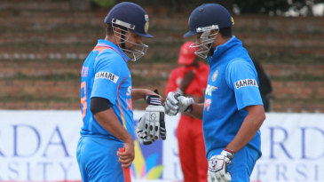 Suresh Raina and Rohit Sharma added 122 for the second wicket