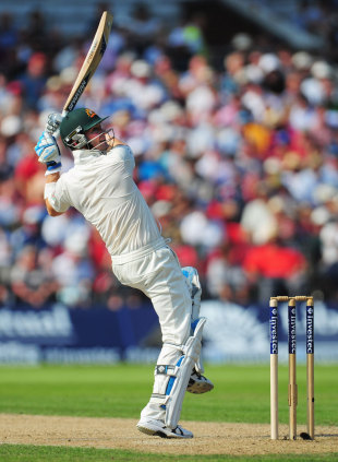 Michael Clarke showed an array of attacking strokes, England v Australia, 3rd Investec Test, Old Trafford, 1st day, August 1, 2013