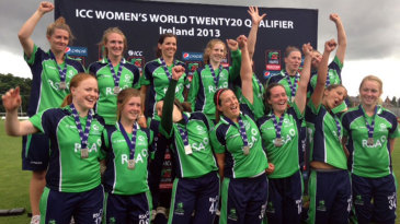Ireland celebrate after qualifying for the 2014 World Twenty20