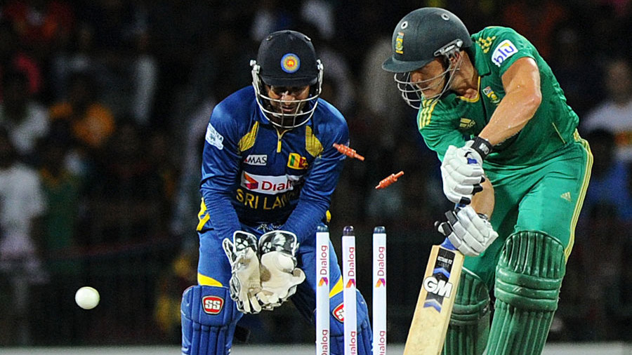 Faf du Plessis was bowled by Sachithra Senanayake