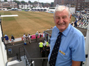 Jim Parks, the Sussex president and former England keeper-batsman, attends Australia's tour game, Sussex v Australians, 2nd day, July 27, 2013